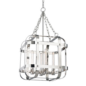 Colchester Polished Nickel Four-Light Pendant
