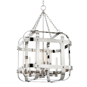 Colchester Polished Nickel Eight-Light Pendant