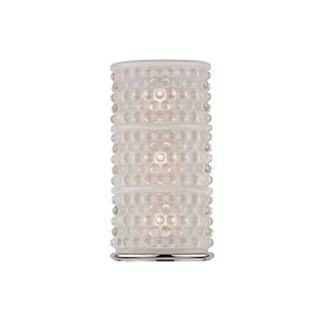Hebron Polished Nickel Three-Light Wall Sconce with Frosted Glass