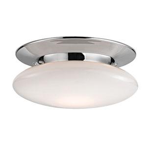 Irvington Polished Chrome Twelve-Inch LED Flushmount