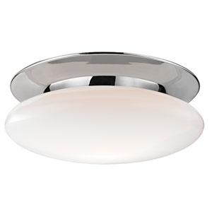 Irvington Polished Chrome Eighteen-Inch LED Flushmount