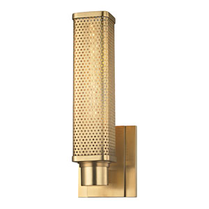 Gibbs Aged Brass One-Light Wall Sconce