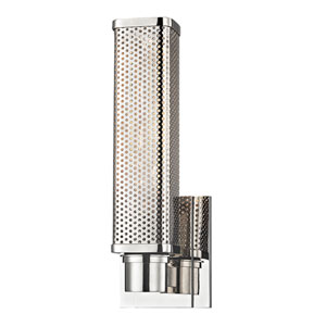 Gibbs Polished Nickel One-Light Wall Sconce