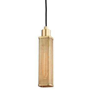 Gibbs Aged Brass One-Light Mini Pendant