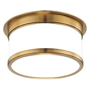 Geneva Aged Brass One-Light Flush Mount