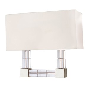Alpine Polished Nickel Two-Light Wall Sconce