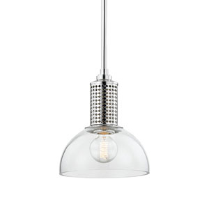 Halcyon Polished Nickel 10-Inch One-Light Pendant
