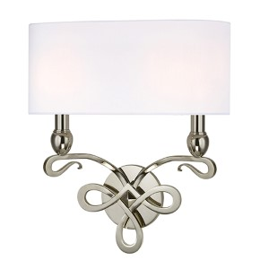 Pawling Polished Nickel Two-Light Wall Sconce