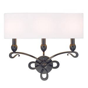 Pawling Old Bronze Three-Light Wall Sconce