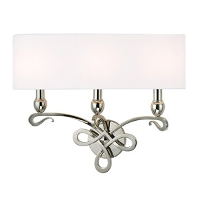 Pawling Polished Nickel Three-Light Wall Sconce