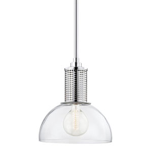 Halcyon Polished Nickel 14-Inch One-Light Pendant