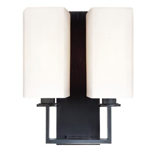 Baldwin Old Bronze Two-Light Wall Sconce