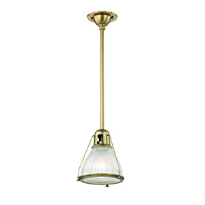 Haverhill Aged Brass One-Light Mini Pendant