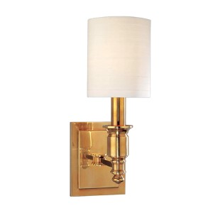 Whitney 13-Inch Aged Brass One-Light Sconce