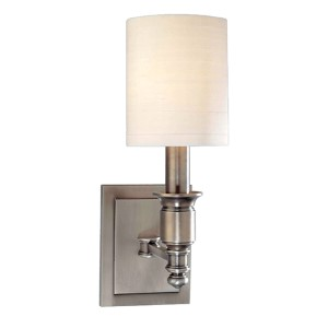 Whitney 13-Inch Antique Nickel One-Light Sconce