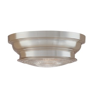 Woodstock Small Satin Nickel Flush Mount Ceiling Light