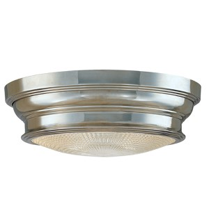 Woodstock Medium Polished Nickel Flush Mount Ceiling Light
