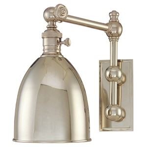 Roslyn Polished Nickel Swing Arm Wall Sconce