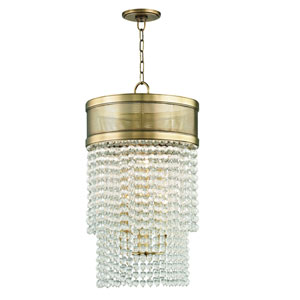 Harrison Aged Brass Eight-Light Pendant