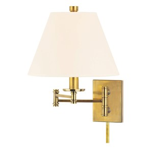 Claremont Aged Brass Wall Sconce