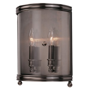 Larchmont Historic Nickel Two-Light Wall Sconce