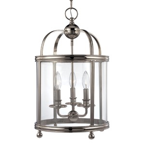 Larchmont Polished Nickel Three-Light Pendant