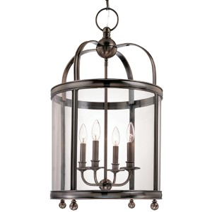 Larchmont Historic Nickel Four-Light Pendant