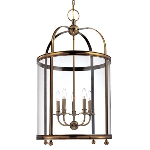 Larchmont Aged Brass Five-Light Pendant