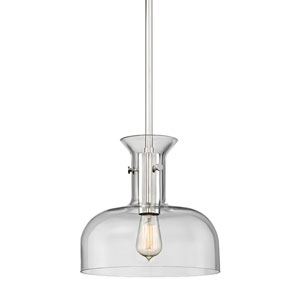 Coffey Polished Nickel 12-Inch One-Light Pendant