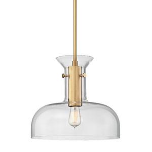 Coffey Aged Brass 16-Inch One-Light Pendant