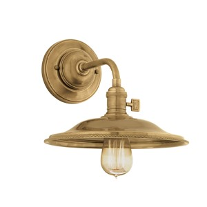 Heirloom Polished Nickel One-Light Small Wall Sconce with Flared Shade