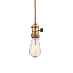 Heirloom Aged Brass One-Light 5.5-Foot Cord Mini Pendant