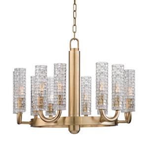 Dartmouth Aged Brass Twelve-Light Chandelier