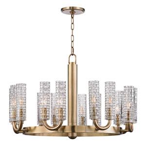 Dartmouth Aged Brass 16-Light Chandelier
