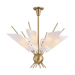 Cooper Aged Brass LED 32-Inch 12-Light Chandelier