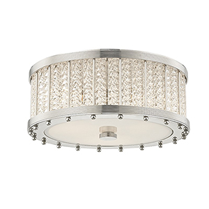 Shelby Polished Nickel 3-Light 16-Inch Flush Mount