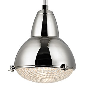 Belmont Polished Nickel One-Light 27-Inch High Pendant with Clear Glass