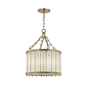 Shelby Aged Brass 4-Light 16-Inch Pendant