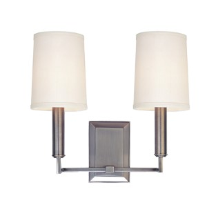 Clinton Antique Nickel Two-Light Wall Sconce