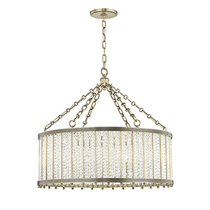Shelby Aged Brass 8-Light 28-Inch Pendant