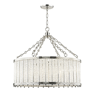 Shelby Polished Nickel 8-Light 28-Inch Pendant