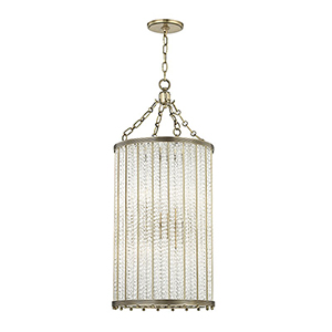 Shelby Aged Brass 8-Light 16-Inch Pendant