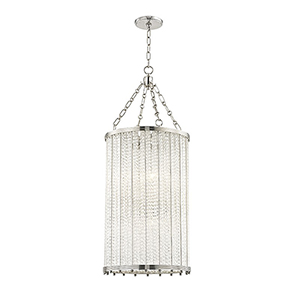 Shelby Polished Nickel 8-Light 16-Inch Pendant