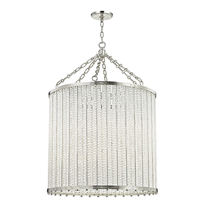 Shelby Polished Nickel 12-Light 28-Inch Pendant
