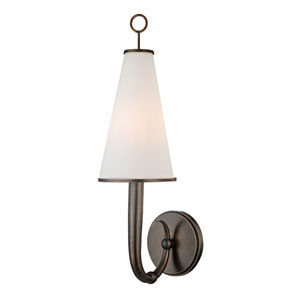 Colden Distressed Bronze One-Light Wall Sconce