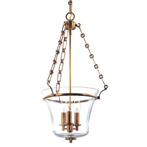 Eaton Aged Brass Three-Light Pendant
