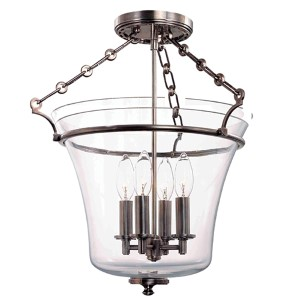 Eaton Polished Nickel Four-Light Semi Flush