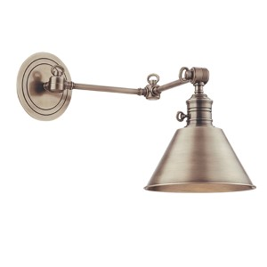 Garden City Polished Nickel Swing-Arm Sconce