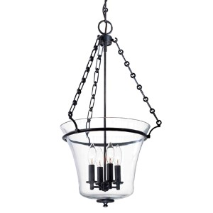 Eaton Old Bronze 28-Inch Four-Light Pendant