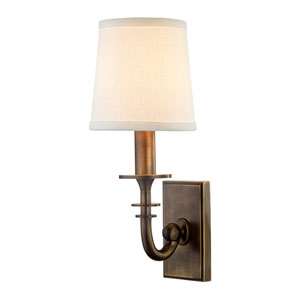 Carroll Distressed Bronze One-Light Wall Sconce